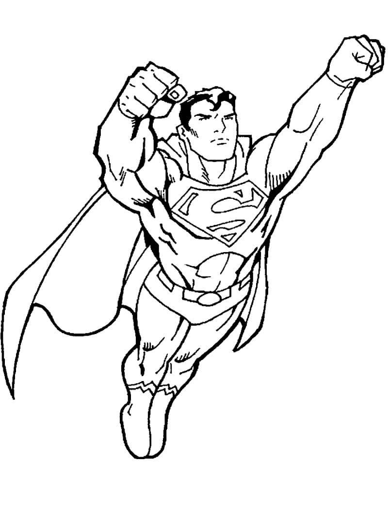 Раскраска Раскраски Супермен