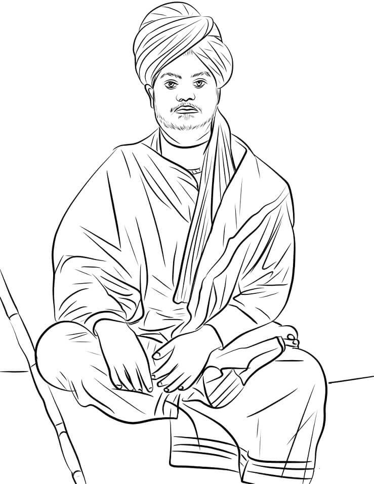 Раскраска Свами Вивекананда