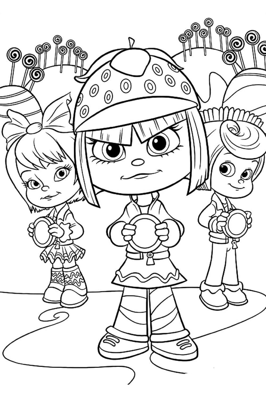 Раскраска Таффита Мармеладис с друзьями
