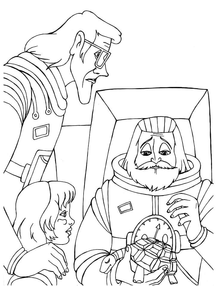 Раскраска Тайна третьей планеты 1