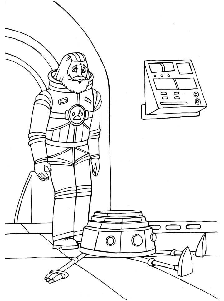 Раскраска Тайна третьей планеты 14