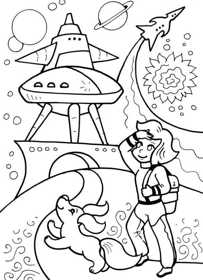 Раскраска Тайна третьей планеты 15