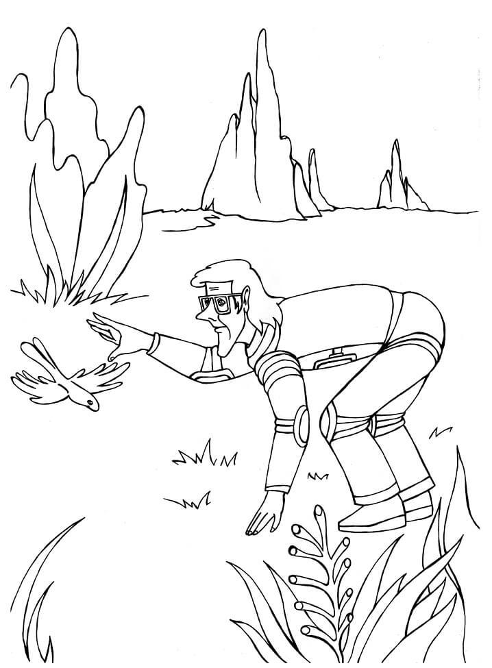Раскраска Тайна третьей планеты 25