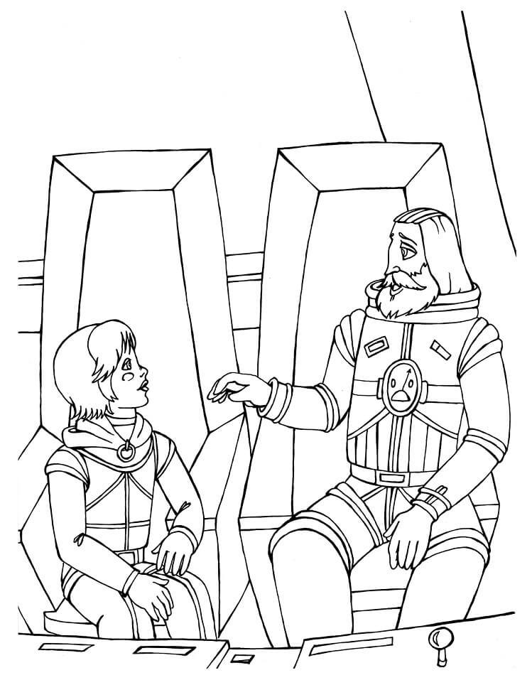 Раскраска Тайна третьей планеты 4