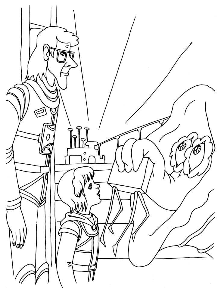 Раскраска Тайна третьей планеты 5