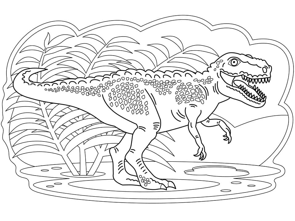 Раскраска Тираннозавр 10