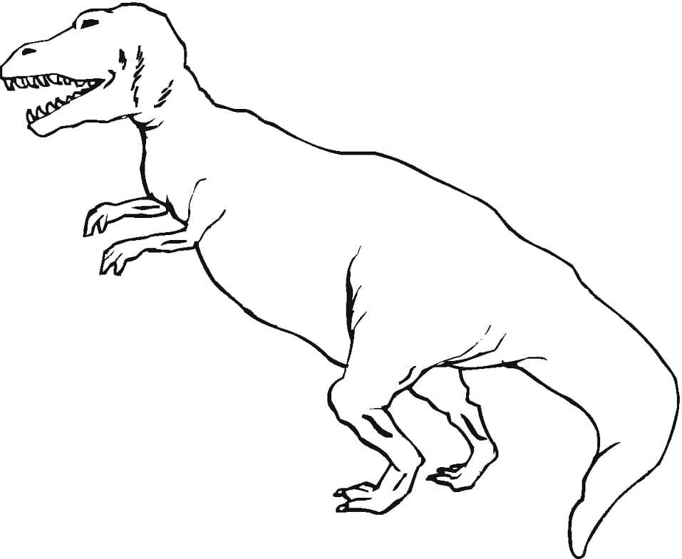 Раскраска Тираннозавр 11