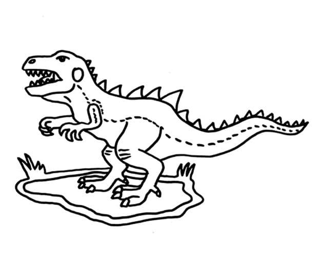Раскраска Тираннозавр 13