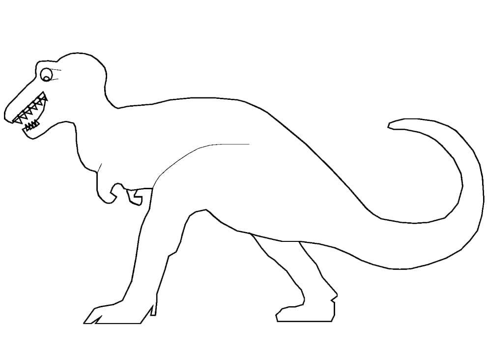 Раскраска Тираннозавр 14