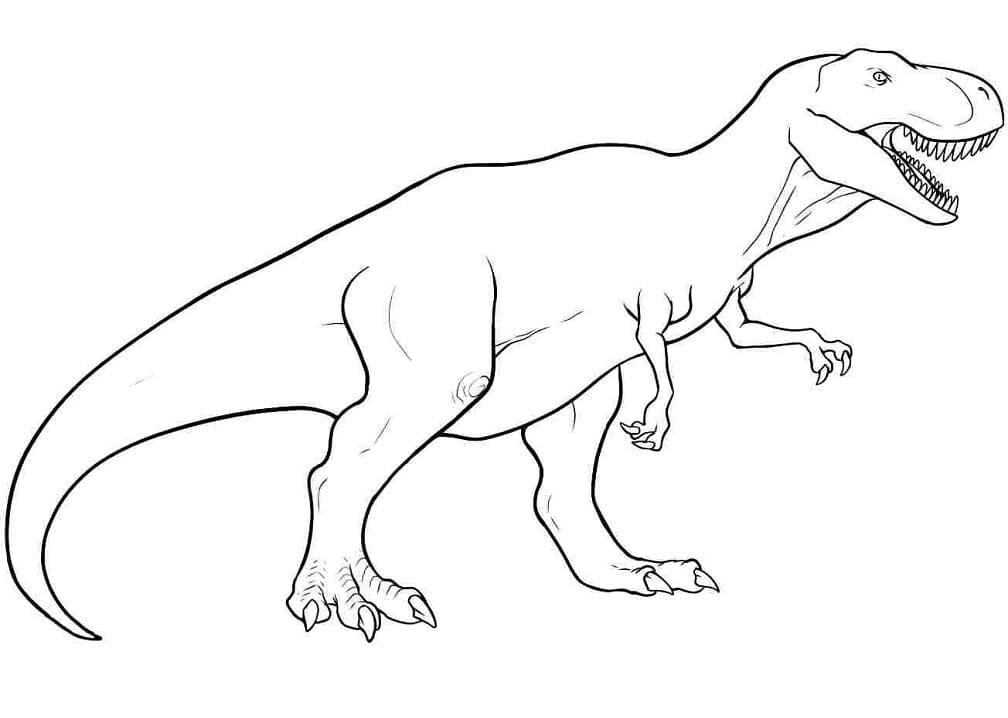Раскраска Тираннозавр 17