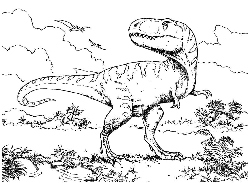 Раскраска Тираннозавр 19