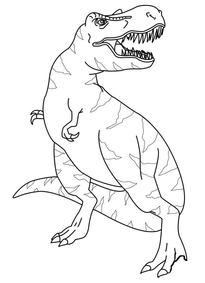 Раскраска Тираннозавр 2