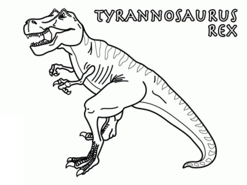 Раскраска Тираннозавр 5