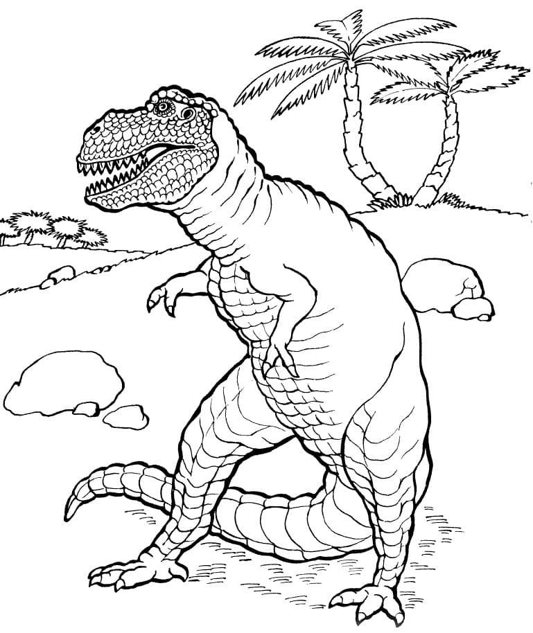 Раскраска Тираннозавр 6