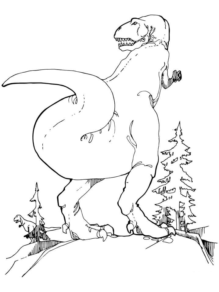 Раскраска Тираннозавр 7