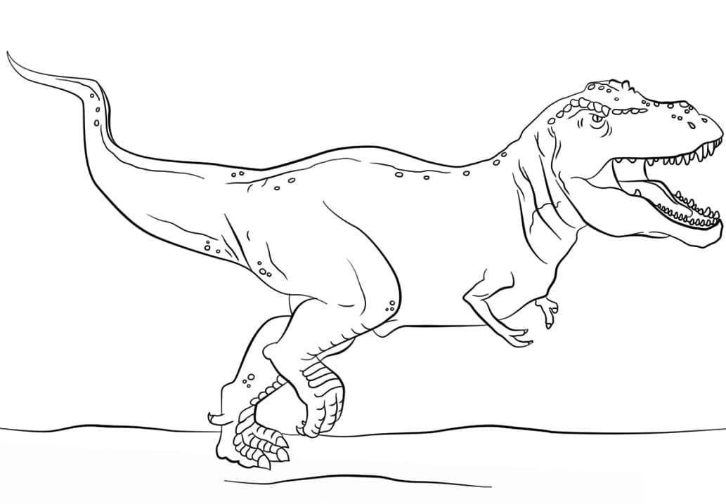 Раскраска Тираннозавр 8