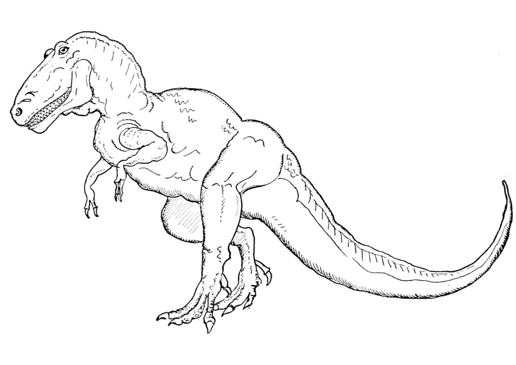Раскраска Тираннозавр 9
