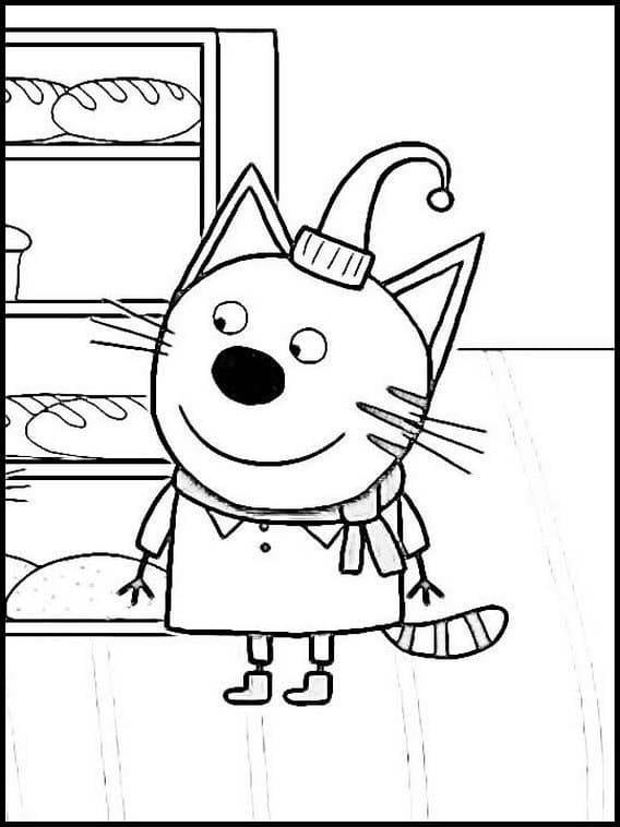 Раскраска Три кота 1