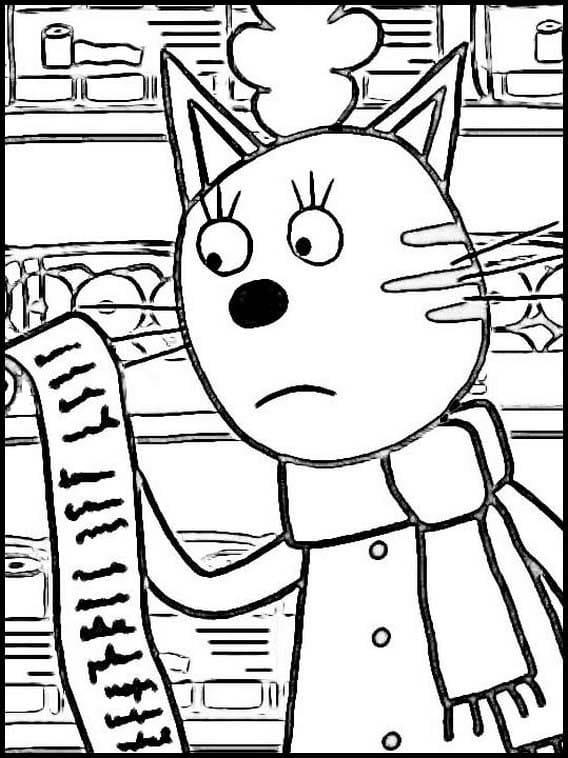 Раскраска Три кота 10