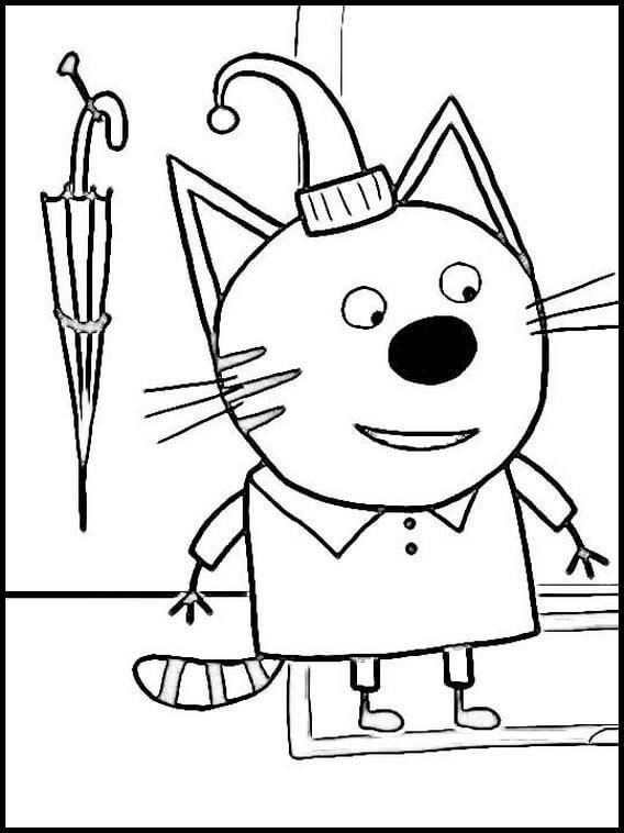 Раскраска Три кота 12