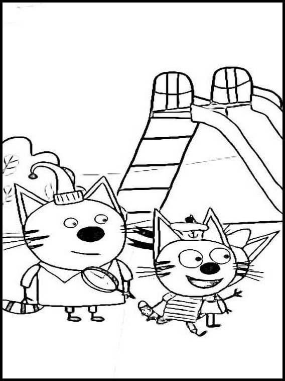 Раскраска Три кота 13