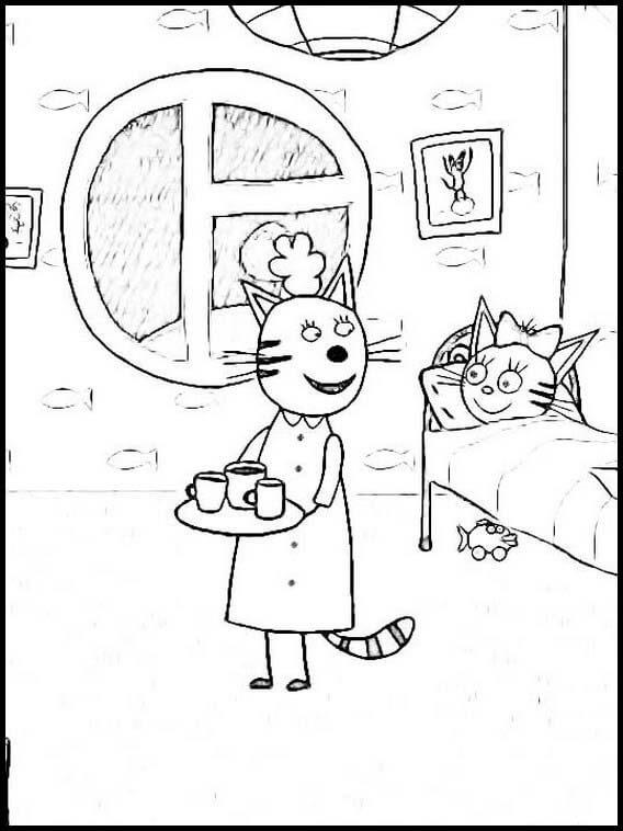 Раскраска Три кота 15