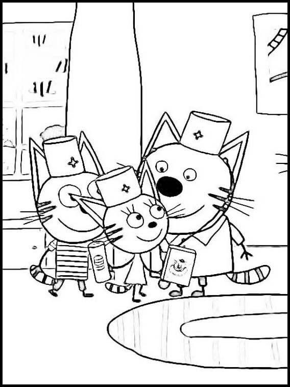 Раскраска Три кота 16