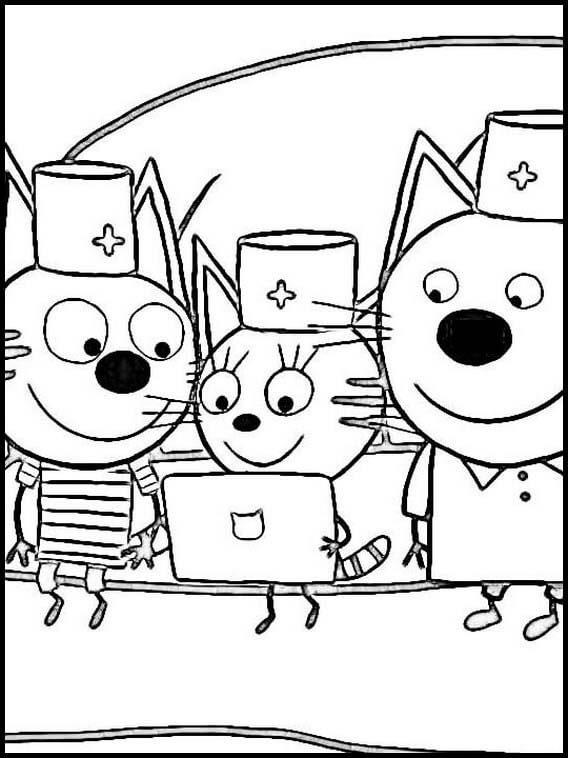 Раскраска Три кота 17