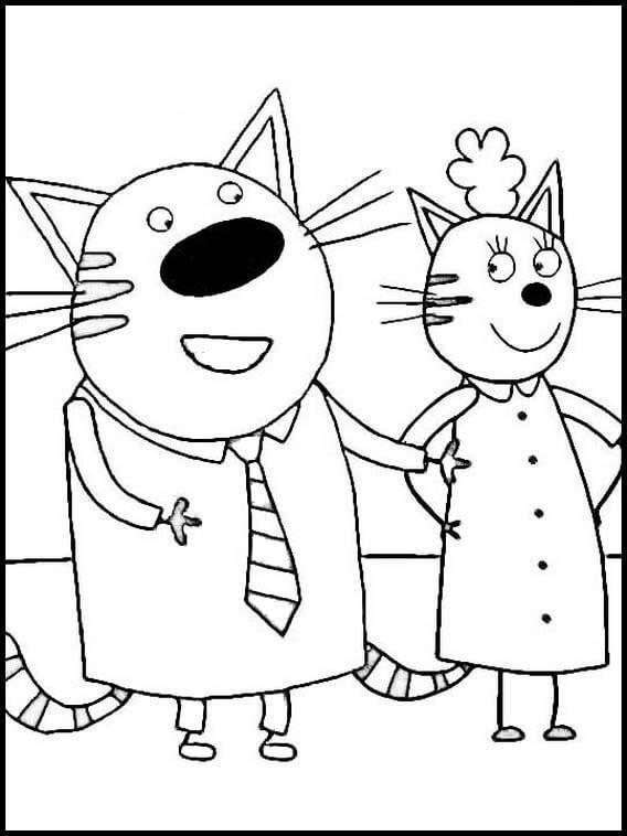 Раскраска Три кота 18