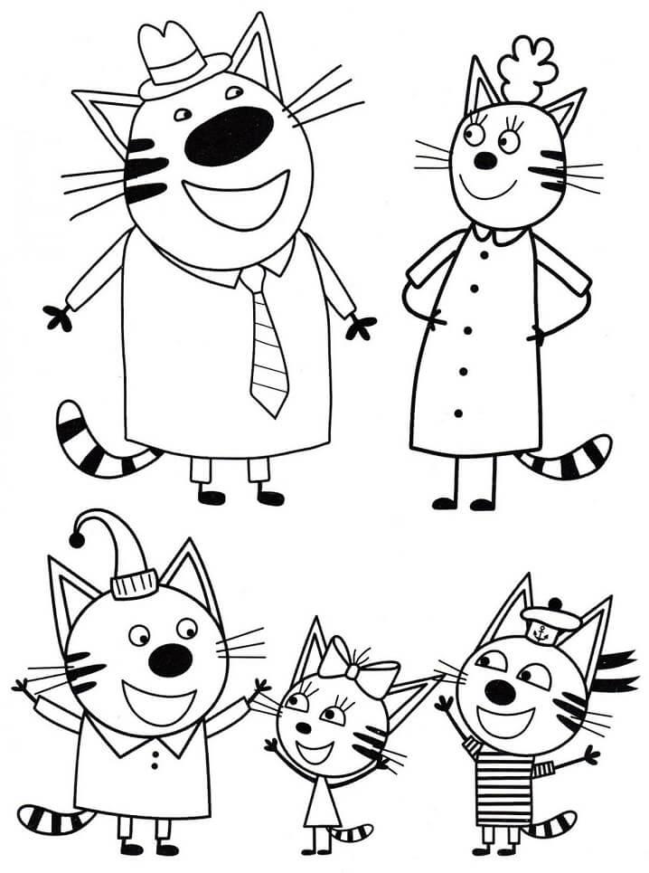 Раскраска Три кота 19