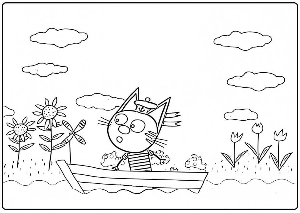 Раскраска Три кота 22