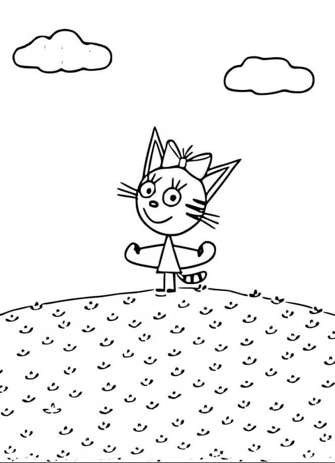 Раскраска Три кота 23