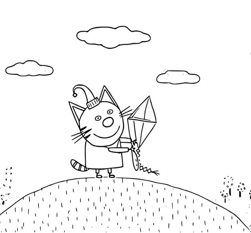 Раскраска Три кота 24