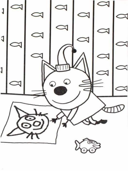Раскраска Три кота 25