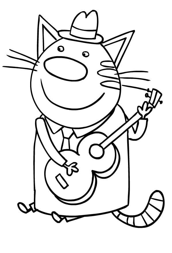 Раскраска Три кота 26