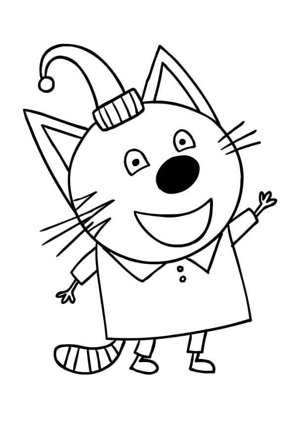 Раскраска Три кота 27