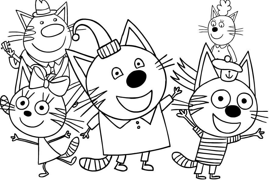 Раскраска Три кота 30