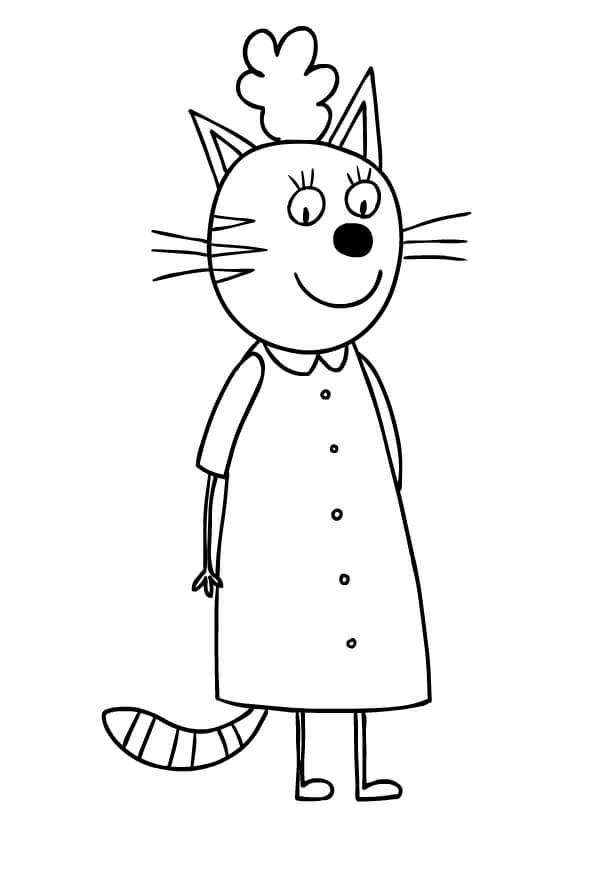 Раскраска Три кота 31