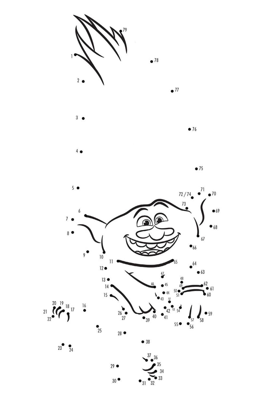 Раскраска Троль Алмаз по точкам