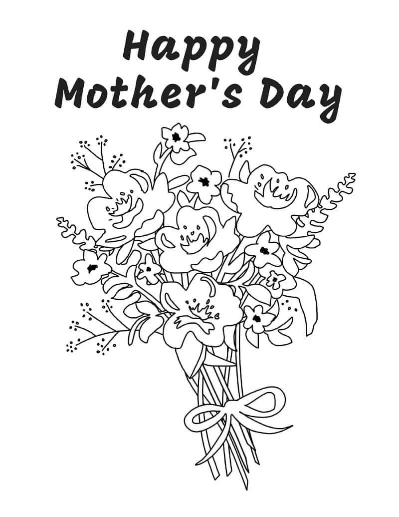 Раскраска Цветок для мамы 3