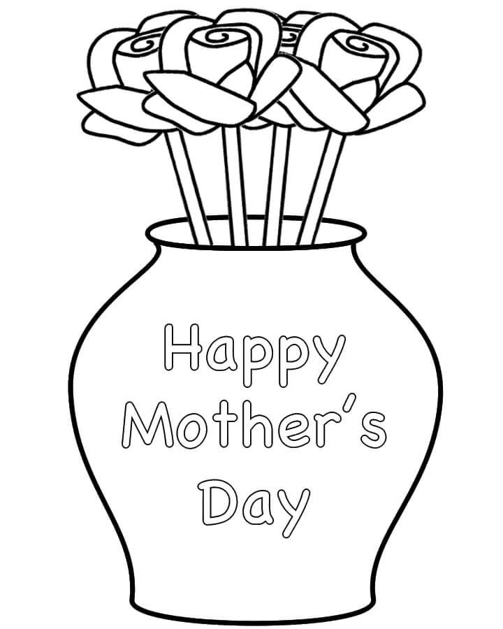 Раскраска Цветок для мамы