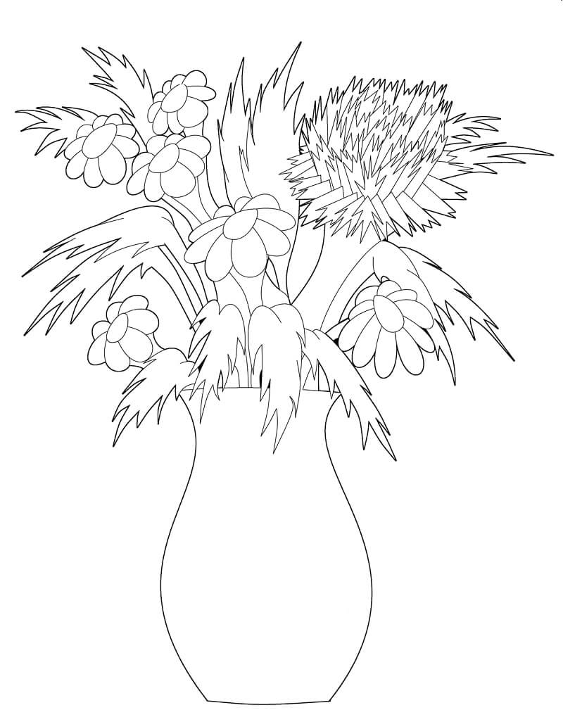 Раскраска цветы ромашки 6