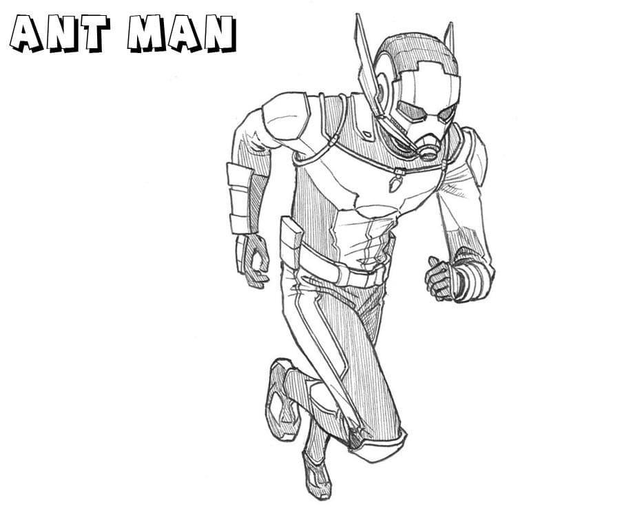 Раскраска удивительная Человек-муравей 3