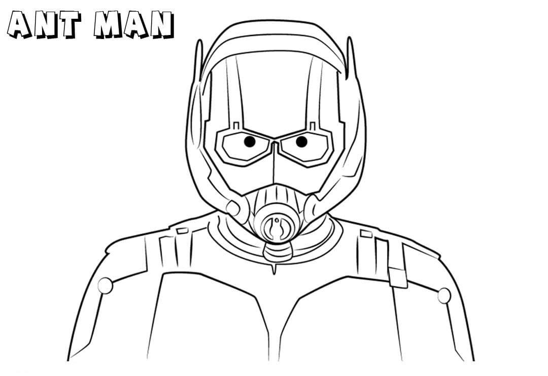 Раскраска удивительная Человек-муравей 4