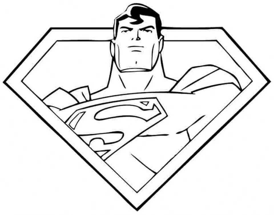 Раскраска удивительный супермен 2