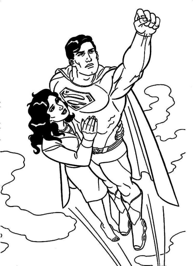 Раскраска удивительный супермен 3