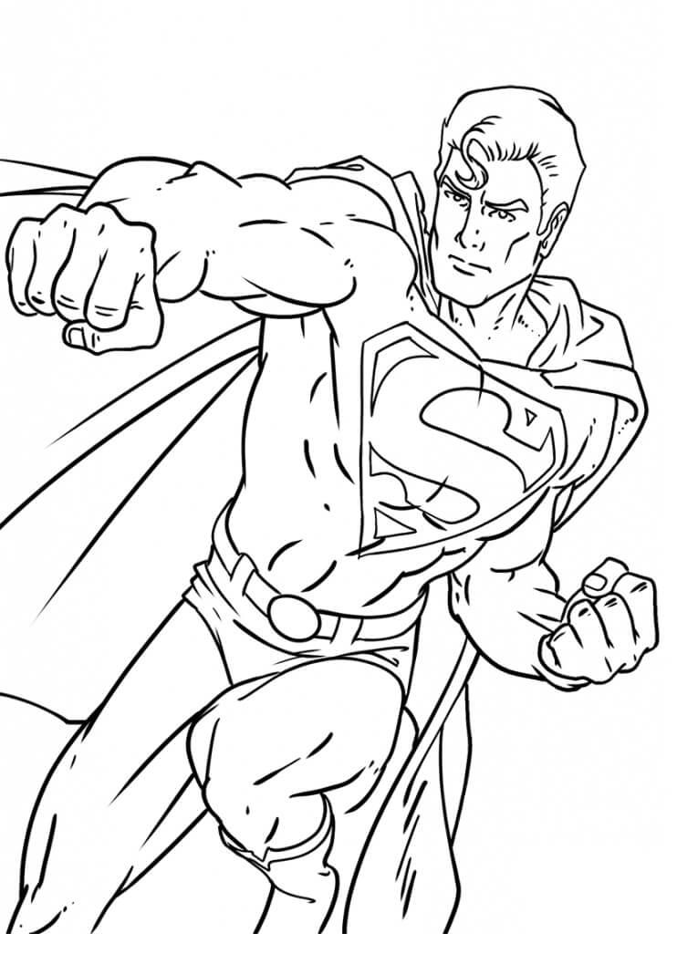 Раскраска удивительный супермен 4