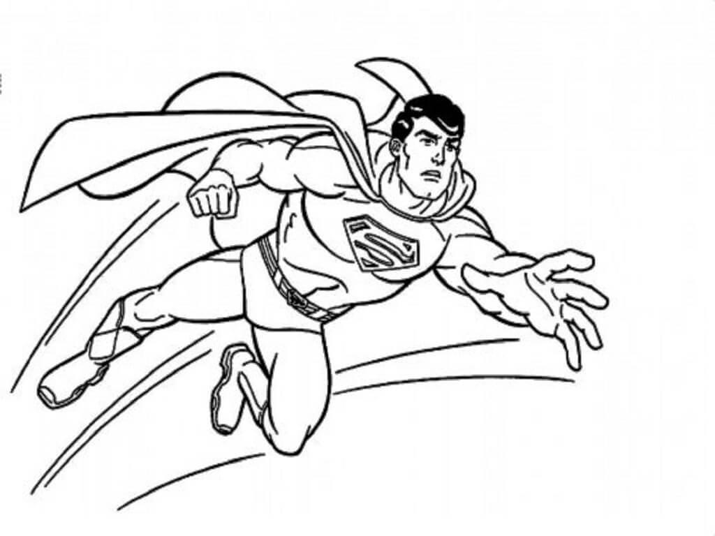 Раскраска удивительный супермен