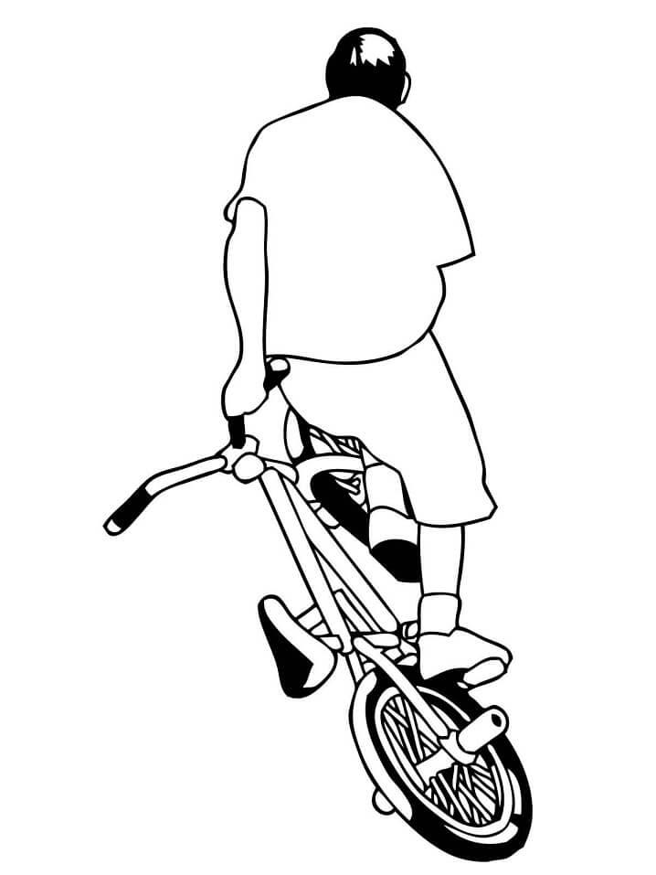 Раскраска Уличный велосипед Bmx