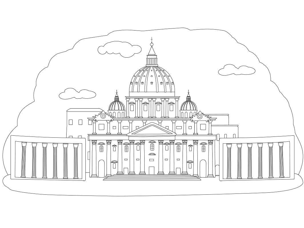 Раскраска Ватикан